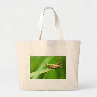 Grass Hopper on Leaf Tote Bag