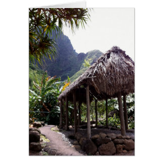 Grass Hut in Iao Valley State Park, Maui, Hawaii Card