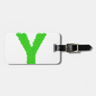 grass letter luggage tag