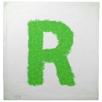 grass letter napkin