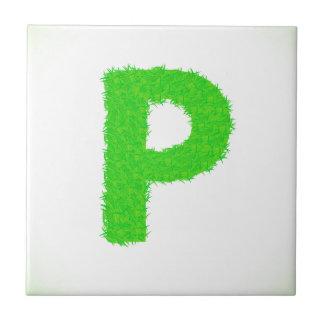 grass letter tile