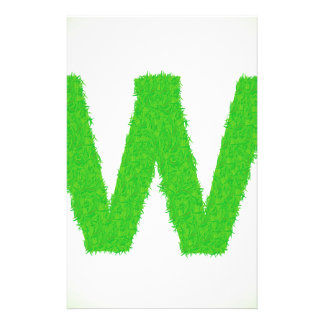 Grass Letter W Stationery