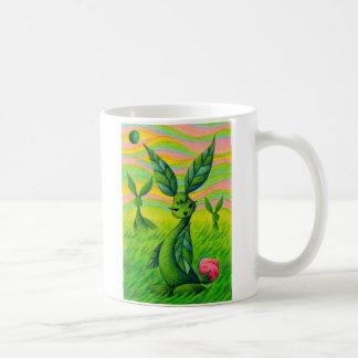 Grass rabbits coffee mug