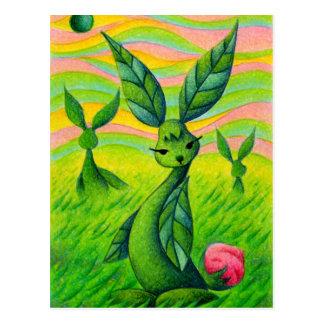 Grass rabbits postcard