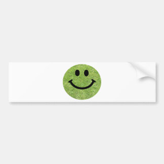 Grass Smiley Bumper Sticker