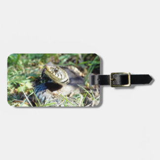 Grass snake bag tag