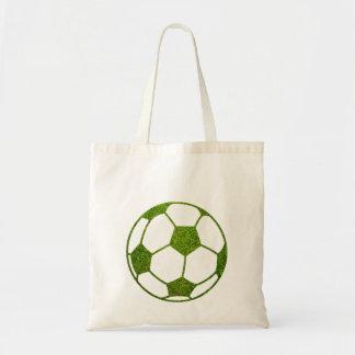 Grass Soccer Ball Tote Bag