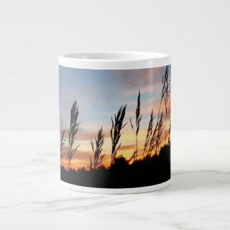Grass Standing Tall - Early Morning Sunrise Jumbo Mug