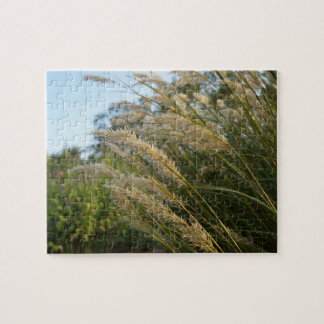 Grass Swaying In The Wind Jigsaw Puzzle