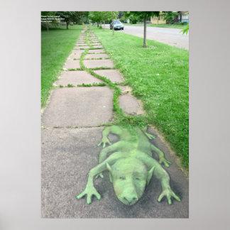 Grass-Tailed Lizard Poster