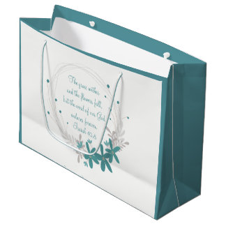 Grass Withers and the Flowers Fall Large Gift Bag