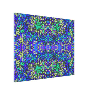 Grass World 2 Blues with Yellow Hue Canvas Print