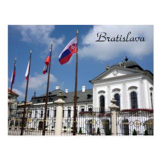 grassalkovich bratislava flags postcard