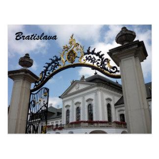 grassalkovich bratislava gate postcard