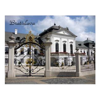 grassalkovich bratislava gates postcard