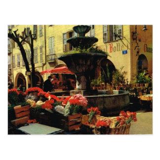 Grasse, market, Cote d'Azur Postcard