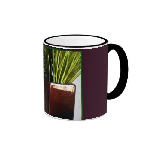 Grasses in Deep Burgundy Vase Coffee & Tea Mug