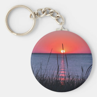 Grasses in the evening light - island reproaches key ring
