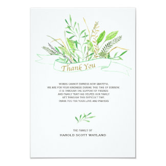 Grasses Sympathy Thank You Card