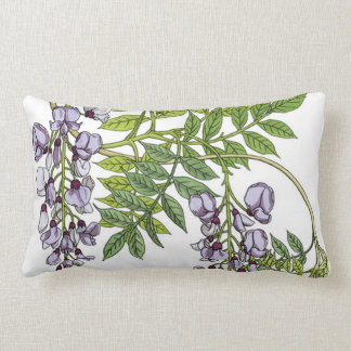 Grasset's Art Nouveau Wisteria Lumbar Pillow