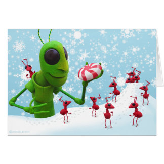 Grasshopper and Ants Chirstmas CardGrasshopper and Card