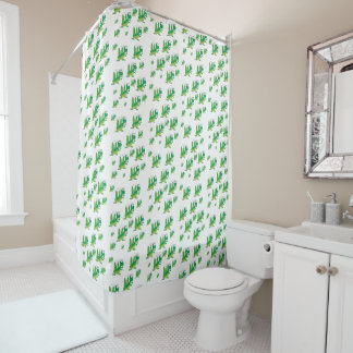 Grasshopper children's shower curtain