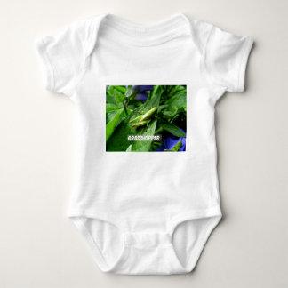 Grasshopper on leaf baby bodysuit