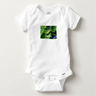 Grasshopper on leaf baby onesie