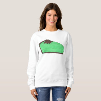 Grasshopper Pie Slice Dessert Foodie Sweatshirt