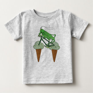 Grasshopper Riding Bike W/ Grasshopper ice cream Baby T-Shirt