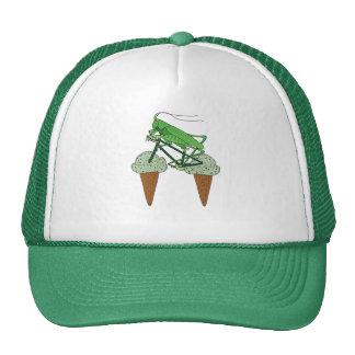 Grasshopper Riding Bike W/ Grasshopper ice cream Cap