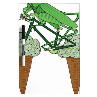 Grasshopper Riding Bike W/ Grasshopper ice cream Dry Erase Board