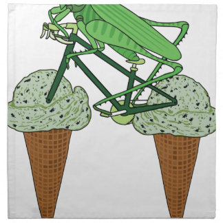 Grasshopper Riding Bike W/ Grasshopper ice cream Napkin