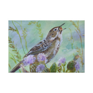 Grasshopper Warbler Art By Joanne Casey Canvas Print