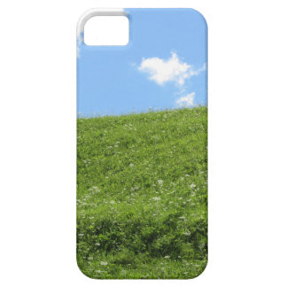 Grassy field at the rolling hill against the sky iPhone 5 covers