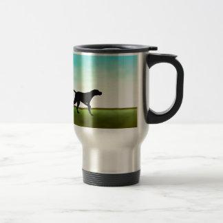 Grassy Field Pointer Dog Travel Mug