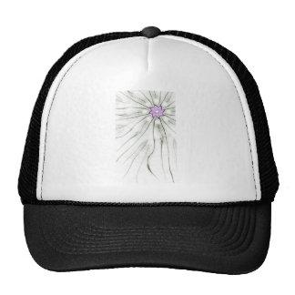 grassy flowers mesh hat