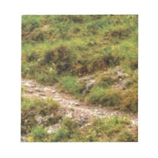 grassy path notepad