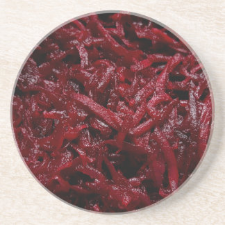 Grated red beets | coasters