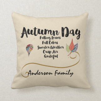 Grateful for Autumn Square Pillow