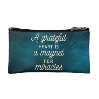 Grateful Heart Magnet for Miracles | Cosmetic Bag
