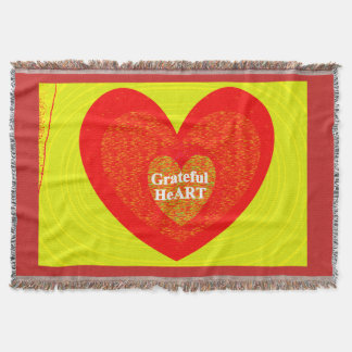 Grateful HeArt Throw Blanket