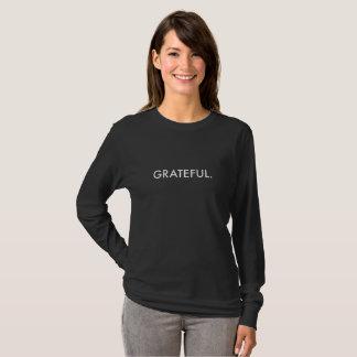 Grateful Long-Sleeve (white lettering) T-Shirt