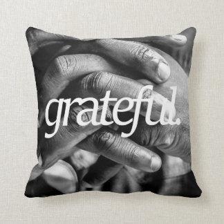 grateful. Religious Design 2 Side Print Cushion