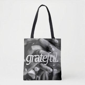 grateful. Religious Design 2 Side Print Tote Bag