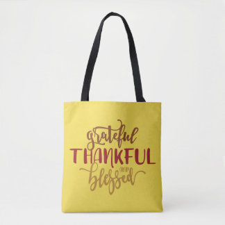 Grateful Thankful Blessed Bag