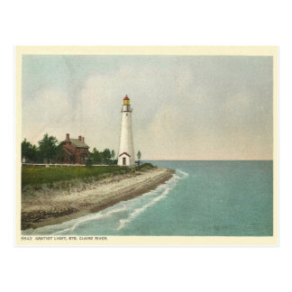 Gratiot Light Michigan Postcard