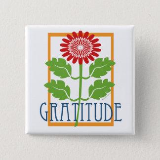 Gratitude 15 Cm Square Badge