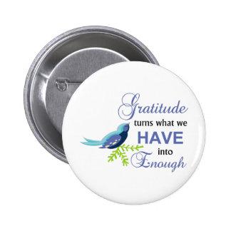 Gratitude Blue Bird 6 Cm Round Badge