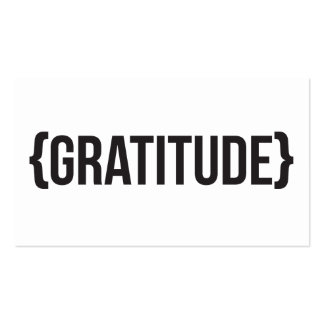 Gratitude - Bracketed - Black and White Double-Sided Standard Business Cards (Pack Of 100)